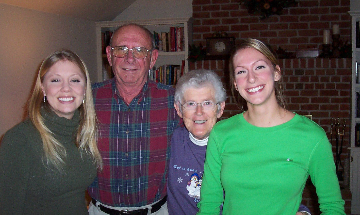 Herman, Lee and his great neices, Lauren and Jenna